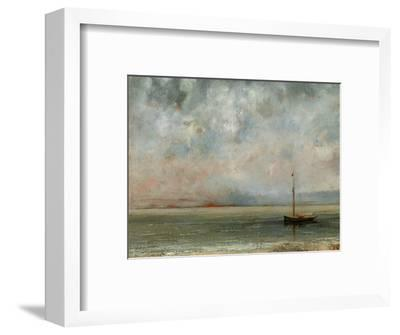 Clouds over Lake Geneva-Gustave Courbet-Framed Photographic Print