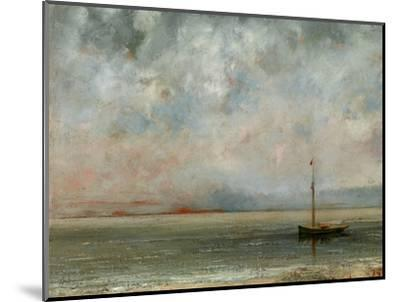Clouds over Lake Geneva-Gustave Courbet-Mounted Photographic Print