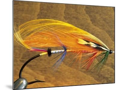 Atlantic Salmon Fly in Flytying Vise, Canada.-Keith Douglas-Mounted Photographic Print