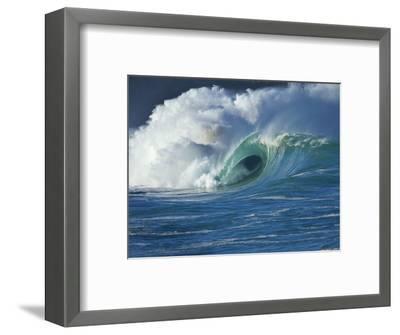 Wave, Waimea, North Shore, Hawaii-Douglas Peebles-Framed Photographic Print