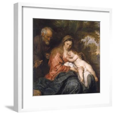 Rest on the Flight into Egypt by Anthony van Dyck--Framed Photographic Print