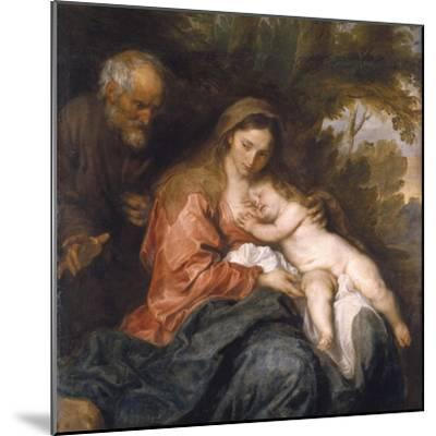 Rest on the Flight into Egypt by Anthony van Dyck--Mounted Photographic Print