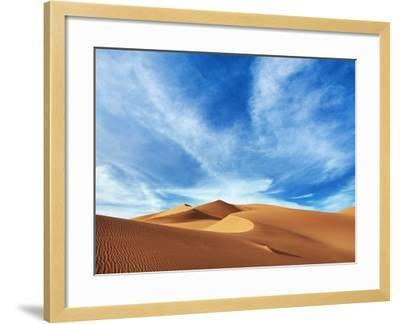 Sand dunes in Erg Admer in Algeria-Frank Krahmer-Framed Photographic Print