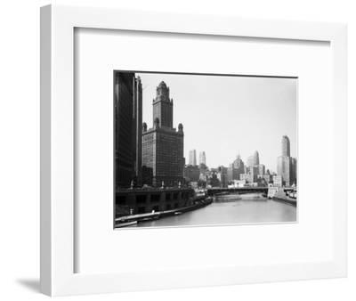 Chicago Skyline and River-Bettmann-Framed Photographic Print