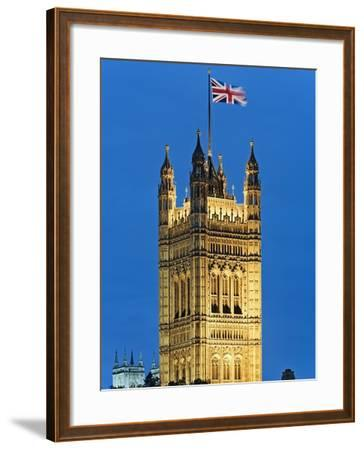 Victoria Tower and Houses of Parliament-Rudy Sulgan-Framed Photographic Print