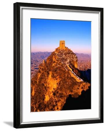 Tower at Great Wall of China-Liu Liqun-Framed Photographic Print