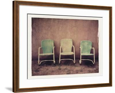 Three Turquoise Chairs-Jennifer Kennard-Framed Photographic Print