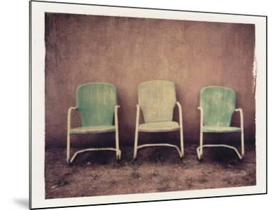 Three Turquoise Chairs-Jennifer Kennard-Mounted Photographic Print