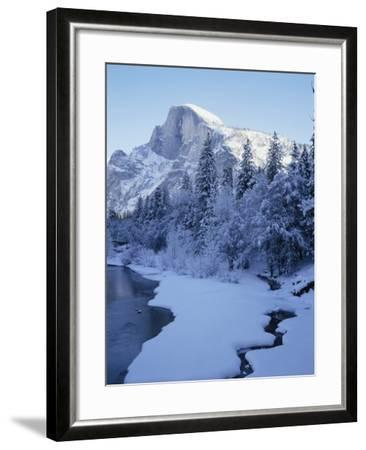 Merced River and Half Dome in Winter-James Randklev-Framed Photographic Print