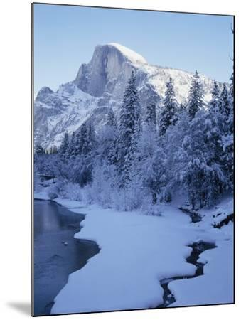 Merced River and Half Dome in Winter-James Randklev-Mounted Photographic Print