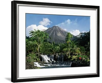 Tabacon Hot Springs and Volcan Arenal-Kevin Schafer-Framed Photographic Print