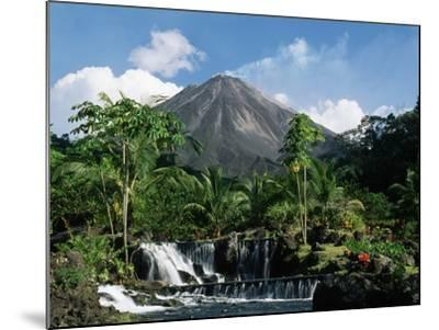 Tabacon Hot Springs and Volcan Arenal-Kevin Schafer-Mounted Photographic Print