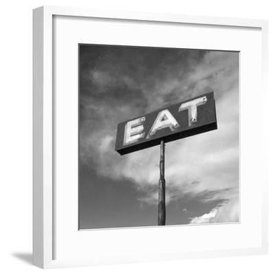 "Vintage ""Eat"" Restaurant Sign-Aaron Horowitz-Framed Photographic Print"