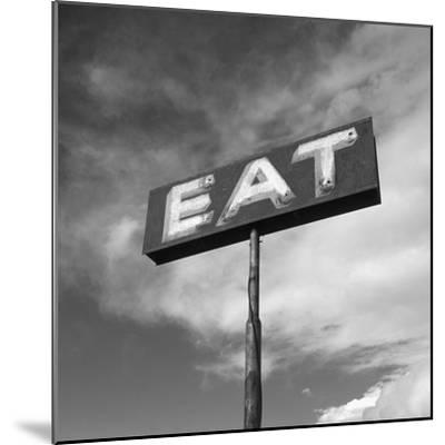 "Vintage ""Eat"" Restaurant Sign-Aaron Horowitz-Mounted Photographic Print"