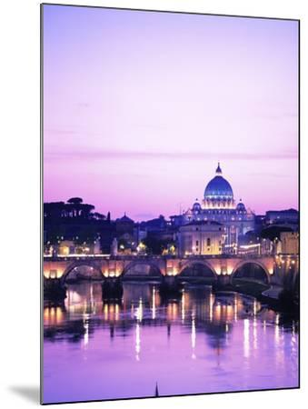 Sant'Angelo Bridge over Tiber River-Dennis Degnan-Mounted Photographic Print