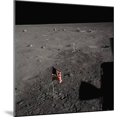American Flag on the Moon--Mounted Photographic Print