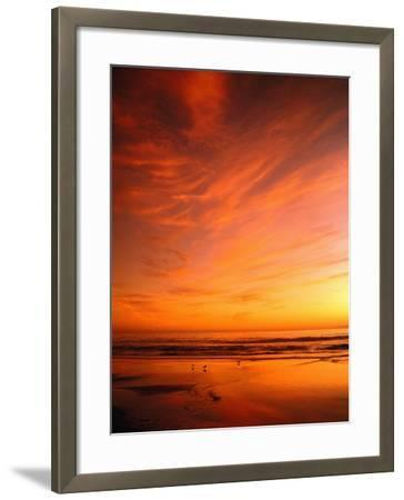 Southern California Sunset at Beach-Mick Roessler-Framed Photographic Print