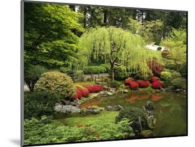 Japanese Garden Pond-Craig Tuttle-Mounted Photographic Print