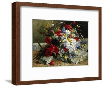 Daisies, Cornflowers and Poppies-Eugene Henri Cauchois-Framed Photographic Print