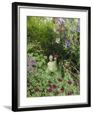 Small Statue in a Back Garden-Mark Bolton-Framed Photographic Print