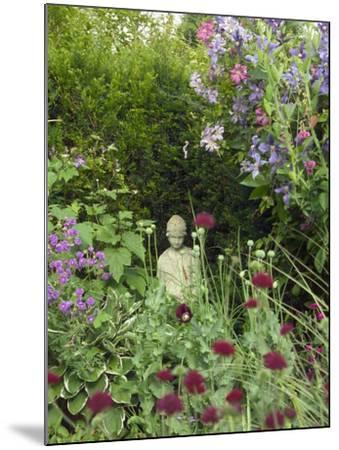 Small Statue in a Back Garden-Mark Bolton-Mounted Photographic Print