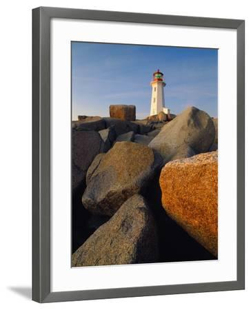 Rocks near Peggy's Cove Light-Ron Watts-Framed Photographic Print