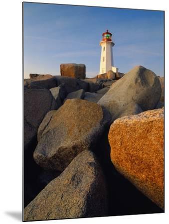 Rocks near Peggy's Cove Light-Ron Watts-Mounted Photographic Print