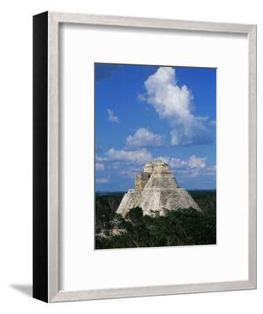 Pyramid of the Magician at Uxmal-Danny Lehman-Framed Photographic Print