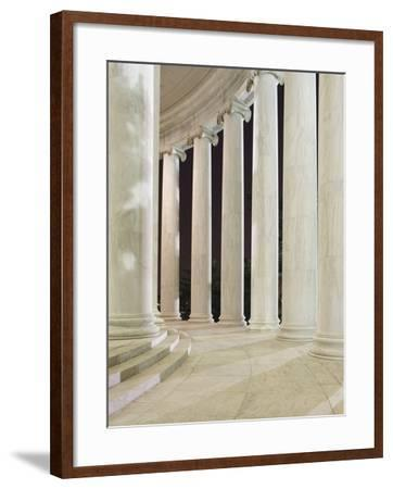 Columns Inside the Jefferson Memorial-William Manning-Framed Photographic Print