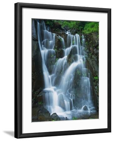 Waterfall Cascading over Rocks-Jagdish Agarwal-Framed Photographic Print