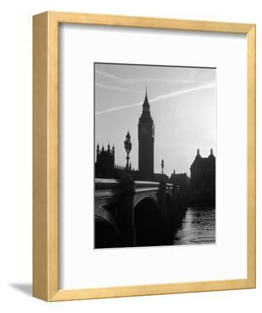 View of Big Ben from Across the Westminster Bridge-Jack Hollingsworth-Framed Photographic Print