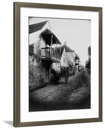 Street in St. Augustine, Florida--Framed Photographic Print
