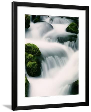 Water cascading - Oregon-Craig Tuttle-Framed Photographic Print