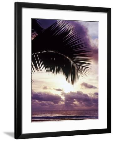 Sunset in Rarotonga-Craig Tuttle-Framed Photographic Print