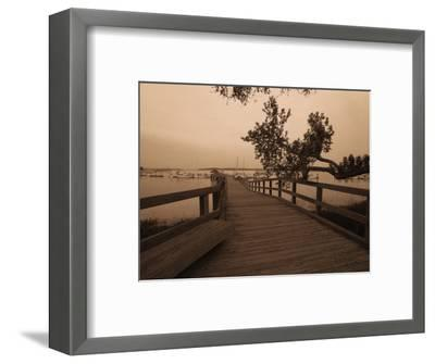 Bridge Leading to Pier-Guy Cali-Framed Photographic Print