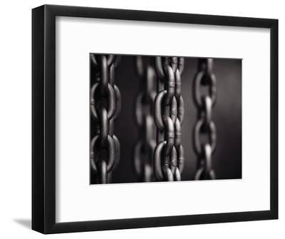 Close Up of Chain Links-David H^ Wells-Framed Photographic Print