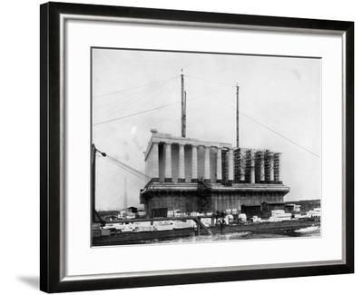 Construction of the Lincoln Memorial--Framed Photographic Print