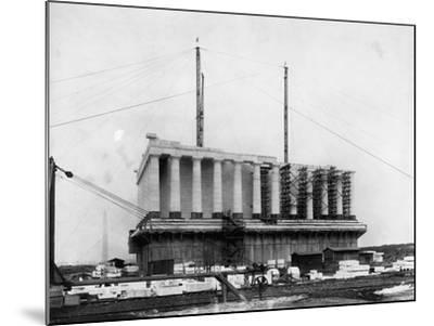 Construction of the Lincoln Memorial--Mounted Photographic Print