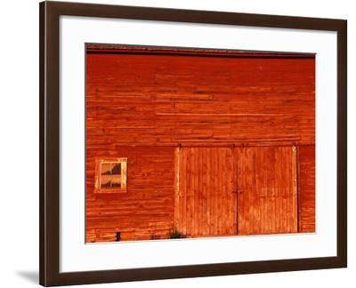 Detail of a Red Barn-Stuart Westmorland-Framed Photographic Print