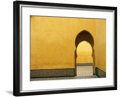 Doorway at Mausoleum of Moulay Ismail-Paul Souders-Framed Photographic Print