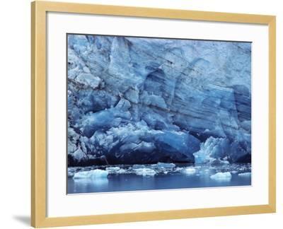 Ice Breaking off Glacier-Mick Roessler-Framed Photographic Print