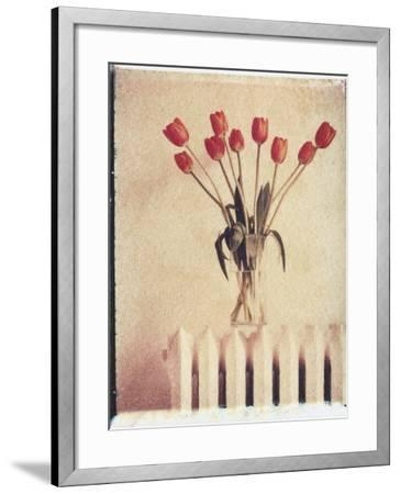 Vase of Tulips on a Radiator-Natalie Fobes-Framed Photographic Print