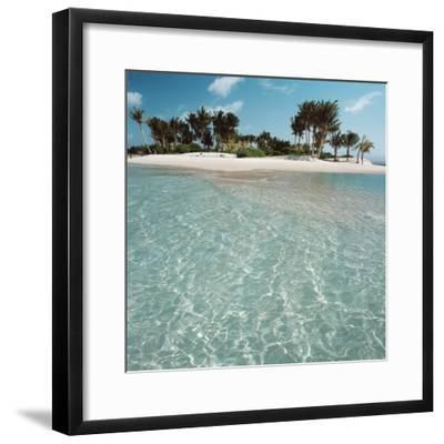 Shallow Water Near Beach--Framed Photographic Print