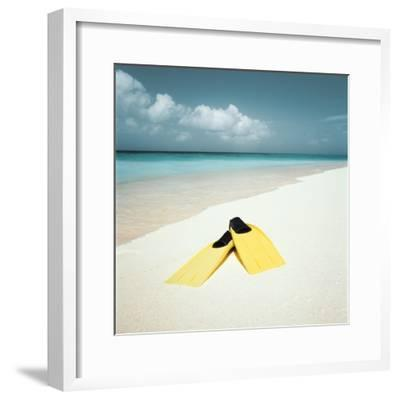 Swim Fins on the Beach--Framed Photographic Print