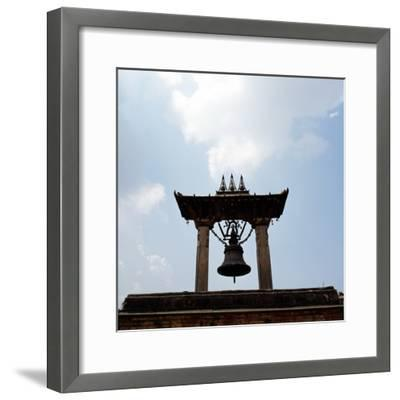 A Bell Tower and Bell--Framed Photographic Print
