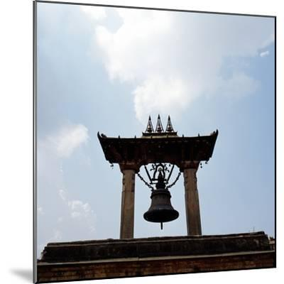 A Bell Tower and Bell--Mounted Photographic Print