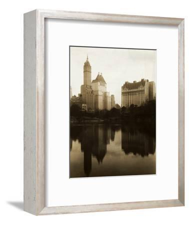 View of the Plaza Hotel, the Savoy Hotel and the Sherry-Netherland Hotel Reflected in the Water--Framed Photographic Print