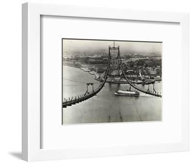 Building of the Triborough Bridge--Framed Photographic Print