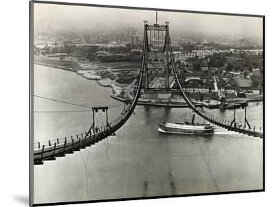 Building of the Triborough Bridge--Mounted Photographic Print