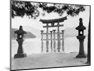 Torii Gate in Water--Mounted Photographic Print